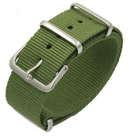18mm NATO strap for VOSTOK watches, nylon, military green