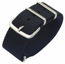 18mm NATO strap for VOSTOK watches, nylon, black, NATO03-18mm