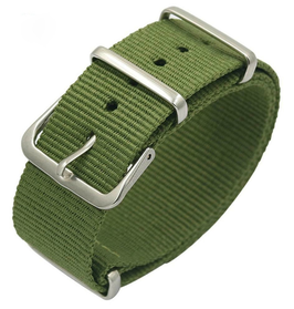 22mm NATO strap for VOSTOK watches, nylon, military green, NATO01-22mm