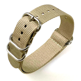 18mm ZULU strap for VOSTOK watches, nylon, khaki, ZULU05-18mm