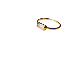 Ring Casual mit Rosenquartz Gold