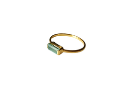 Ring Casual mit Aqua Chalcedony Gold