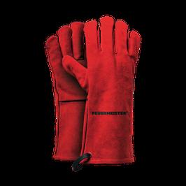 FEUERMEISTER® Grillhandschuhe Spaltleder rot (Paar)