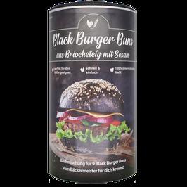 Bake Affair Black Burger Buns aus Briocheteig mit Sesam
