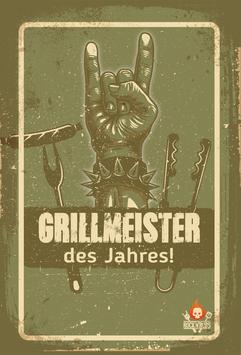 Metallschild Grillmeister des Jahres!