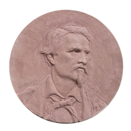 Bas-relief en bronze de Frédéric Mistral
