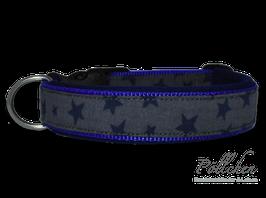 Pöllchen Komforthalsband Sterne Grau Blau