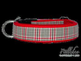 Pöllchen Komforthalsband Schottenkaro Beige Rot