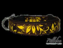 Pöllchen Komforthalsband Batikblüte Gelb
