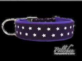 Pöllchen Komforthalsband Sterne Violett