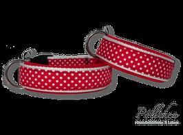 Pöllchen Komforthalsband Punkte Rot Weiß