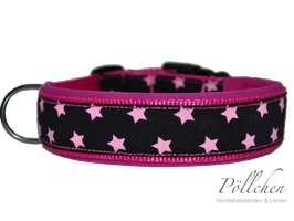 Pöllchen Komforthalsband Sterne Pink