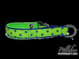 Pöllchen Komfort-Zugstopphalsband Sterne Hellgrün Blau