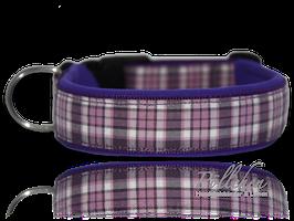 Pöllchen Komforthalsband Plaid Violett