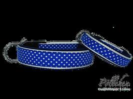 Pöllchen Komforthalsband Punkte Blau Weiß