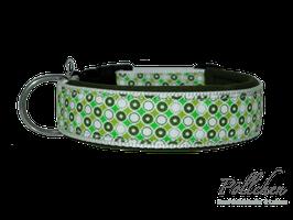 Pöllchen Komforthalsband Retro Punkte Grün