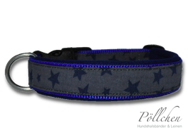 Komforthalsband Sterne Grau Blau