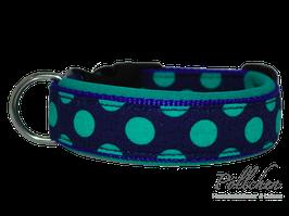 Pöllchen Komforthalsband Big Dots Blau Mint