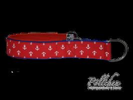 Pöllchen Komfort-Zugstopphalsband Anker Rot