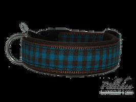 Pöllchen Komforthalsband Vichy Braun Petrol
