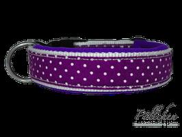 Pöllchen Komforthalsband Minipunkte Lila