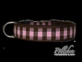 Pöllchen Komforthalsband Big Vichy Braun Rosa