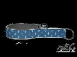 Pöllchen Komfort-Zugstopphalsband Anker Hellblau