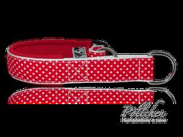 Pöllchen Komfort-Zugstopphalsband Punkte Rot Weiß