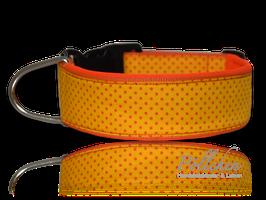 Pöllchen Komforthalsband Punkte Gelb Orange