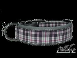 Pöllchen Komforthalsband Karo Grau Lila
