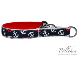 Pöllchen Komfort-Zugstopphalsband Anker