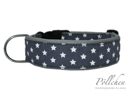 Pöllchen Komforthalsband Sterne Grau