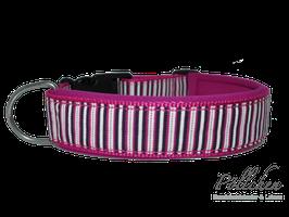 Pöllchen Komforthalsband Streifen Rosa & Weiß