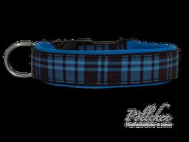 Pöllchen Komforthalsband Schottenkaro Blau