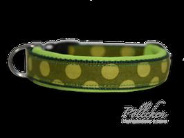 Komforthalsband Big Dots Lime