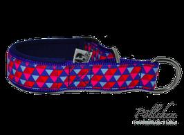 Pöllchen Komfort-Zugstopphalsband Triangular Blau