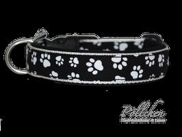 Pöllchen Komforthalsband Pfötchen Schwarz & Weiß