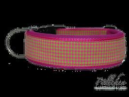 Pöllchen Komforthalsband Pink Limette Karo