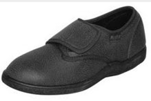Damen Stretch-Textilleder Schuh schwarz