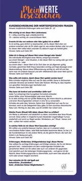 """Lesezeichen für """"Mein Werte Buch"""""""