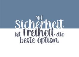 """Postkarte: """"Mit Sicherheit ist Freiheit die beste Option"""" (PK067)"""