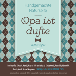 "opa ist dufte - naturseife ""minty"""