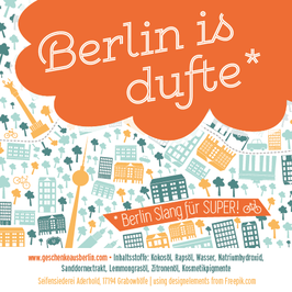 "berlin is dufte – naturseife ""fruchtikuss"""