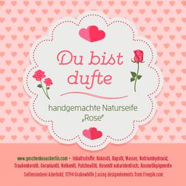 """du bist dufte – naturseife """"rose"""""""