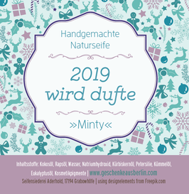 "2019 wird dufte – naturseife ""minty"""