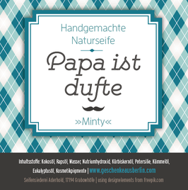 "papa ist dufte - naturseife ""minty"""