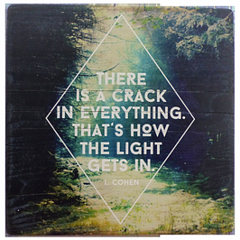 The Light - Illustrated Quotes | Holzdruck