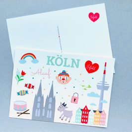 Kölner Illustrationen - Postkarte