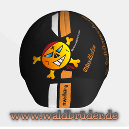 Radlkäppi-STRIPES -Schwarz-mit Streifen-Orange/Weiß- Buccaneer Cycling Limited Edition 2021