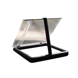 Futterluke 1x1m mit Lichtdeckel für die Fütterung und Kontrolle der Koi im Winter